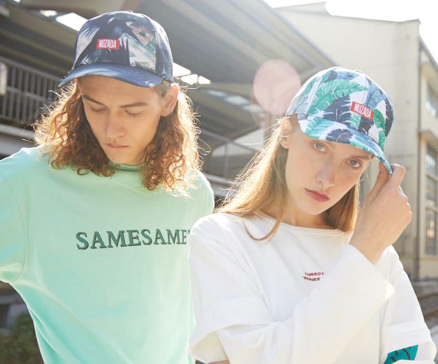 Gorras tropicales para mujer