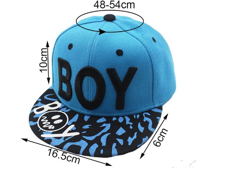 0363e5ac012dc 🧢 Gorra visera Plana Niños 3-8 Años Bordado BOY frase Gorra Hip Hop ...