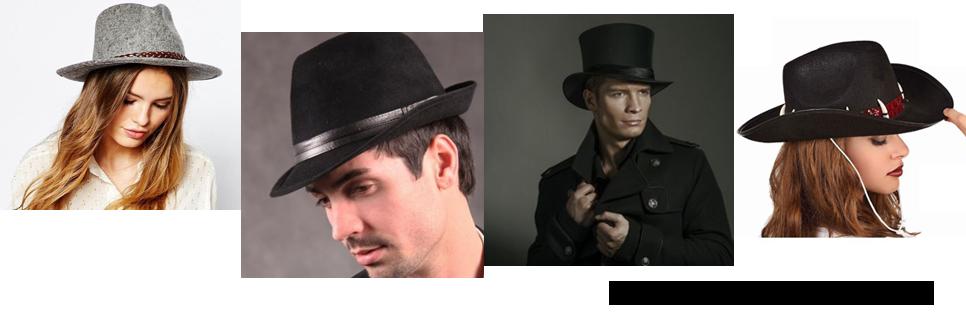 tipos de sombreros para hombre y mujer